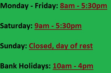 Capels Opening Times